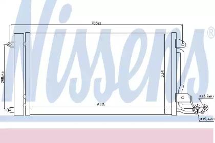 Радиатор кондиционера AUDI: A1 1.2 TFSI/1.4 TFSI/1.6 TDI 10-\ SEAT: IBIZA V (6J5) 1.2/1.4/1.4 TDI/1.4 TSI/1.6/1.6 TDI/1.9 TDI/2.0 TDI 08-, IBIZA V SPORTCOUPE (6J1) 1.2/1.4
