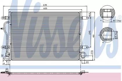 Радиатор кондиционера AUDI: A4 (8E2, B6) 1.6/1.8 T/1.8 T QUATTRO/1.9 TDI/1.9 TDI QUATTRO/2.0/2.0 FSI/2.4/2.5 D/2.5 TDI/2.5 TDI QUATTRO/3.0/3.0 QUATTRO 00-04 , A4 AVANT (8E