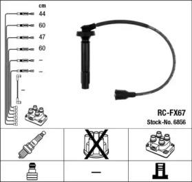 Провода зажигания к-т RC-FX67 6856
