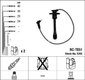 Провода зажигания NGK RC-TE51 (5355)