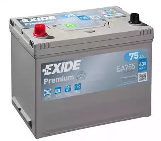 Аккумулятор EXIDE PREMIUM 12V 75AH 630A ETN 1(L+) Korean B1 272x170x225мм 18.9kg