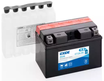 Аккумулятор для мототехники EXIDE AGM 12 V 9.5 AH 120 A ETN 1 B0 150x90x105mm 3.5kg