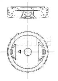Кольца поршневые 1шт OPEL ASTRA 1.2-1.4 =77.6 1.5x1.5x3 std 91>