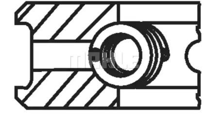 Кольца поршневые 1шт OPEL VECTRA 1.7D/TD =82.5 2x2x3 std 92>