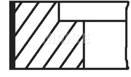 Кольца поршневые 1шт VW 1.0-1.3-1.4 =75 1.5x1.5x2.5 std 89>