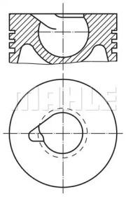 Поршень ДВС Audi. VW 1.9TDi 1Z/AFN  =79.5 1.75x2x3 +0.50 1/2cyl  95>
