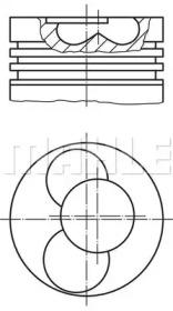 Поршень ДВС VW T4. LT28 2.5TDi/SDi ACV/AHD/AGX =81 2.5x2x3 +0.50 1/2cyl
