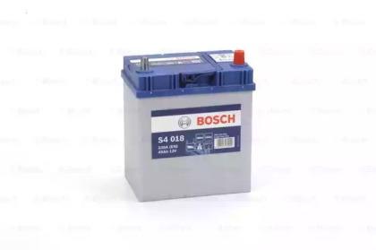 Аккумулятор BOSCH S4 SILVER 12V 40AH 330A ETN 0(R+) B00 187x127x227mm 10.1kg, тонкие клеммы