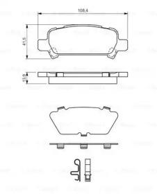 Колодки тормозные дисковые задн SUBARU: IMPREZA седан (GC) 2.0 Turbo GT 4WD 92-00, IMPREZA универсал (GF) 2.0 Turbo GT 4WD 92-00, LEGACY III (BE, BH) 2.0/2.5 98-03, LEGACY III у