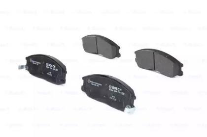 Колодки тормозные дисковые передн HYUNDAI: H-1/ STAREX 2.5 CRDi/2.5 CRDi 4WD/2.5 TCi/2.5 TD 4WD 97-, H-1 c бортовой платформой 2.5 D 00-05, H-1 фургон 2.5 CRDi/2.5 TD 97-07, SAN