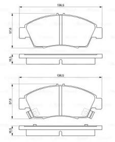Колодки тормозные дисковые HONDA: CIVIC V Hatchback (EG) 1.4 16V/1.6 VTi 16V (EG6) 91-95, CIVIC V купе (EJ) 1.6 i (EJ6) 93-96, CIVIC V седан (EG, EH) 1.6 4x4/1.6 VTi (EG9) 91-95