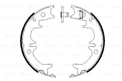 Колодки тормозные барабанные TOYOTA AVENSIS 97-03/CAMRY 91-/LEXUS RX300 00-03