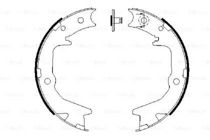 Колодки тормозные барабанные MITSUBISHI: ECLIPSE II 95-99, GALANT VI 96-04, GALANT VI универсал 96-03, LANCER VI 99-03, LANCER седан 03-, LANCER универсал 03-, OUTLANDER
