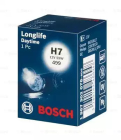 Лампа BOSCH 1987302078 H7 12V 55W PX26d  Longlife Daytime box 1шт