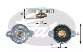 Крышка горловины радиатора 0,9 M/Pa большой клапан