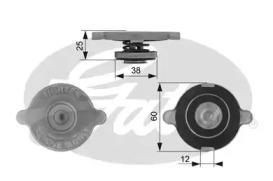 Крышка радиатора RC132 (7410-30074)