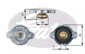 Крышка радиатора Gates RC133 (7410-30075)