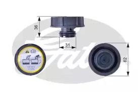 Крышка бачка расширительного GATES RC240 Ford Focus/Mazda 3/Volvo S40/S60/S80