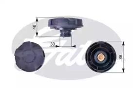 Крышка бачка расширительного GATES RC241 BMW E81/E87/E88/E82/E90/F30/E91/E93/E92/F10/F11 04-