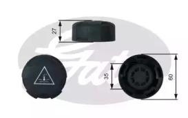 Крышка бачка расширительного GATES RC247 BMW E70/E71/F01/F10 09-