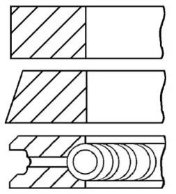Кольца поршневые 1шт Nissan Sunny CD17 1.7D =80 1.75x2x3 std