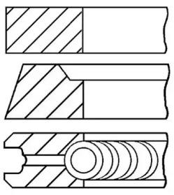 Кольца поршневые 1шт Mazda 2.0D-2.2D =86 2x2x4 +0.50 84>