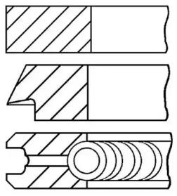 Кольца dm.78.50 std [1.2-1.5-2.5] 1 пор.