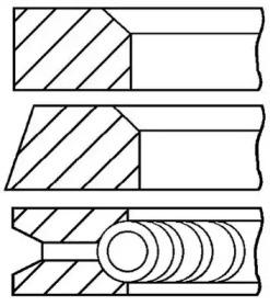 Кольца поршневые 1шт Alfa 164 2.0 TS =84 1.5x1.5x3.5 std 87>