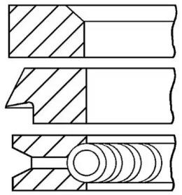 Кольца поршневые 1шт BMW 318i/525i M40/M20  84-1,5-1,75-3 +0.5