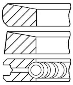 Кольца поршневые 1шт Mitsubishi Galant 1.8TD 4D65T =80.6 2x2x4 std 84>