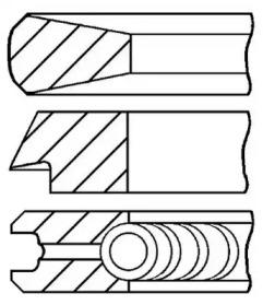 Кольца поршневые 1шт Fiat 1.7D =83 2.5x2x4 std 80>