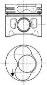 Поршень ДВС Audi. VW 1.9TDi 1Z/AFN  =79.5 1.75x2x3 +0.50 3/4cyl  95>