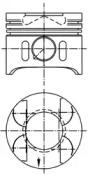 Поршень ДВС MERCEDES-BENZ 2.2CDi OM611 =88 2.5x2x3 +0.5 03>