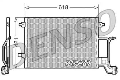 Радиатор кондиционера AUDI: A6 (4B, C5) 1.9 TDI/2.7 T/2.7 T quattro 97 - 05 , ALLROAD (4BH) 2.7 T quattro 00 - 05