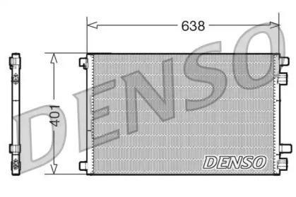 Радиатор кондиционера RENAULT: MEGANE II (BM0/1, CM0/1) 1.4 16V/1.4 16V (BM0B, CM0B)/1.5 dCi/1.5 dCi (BM0F, CM0F)/1.6/1.6 16V/1.6 16V (BM0C, CM0C)/1.6 Flex-Fuel/1.9 dC