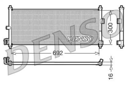 Радиатор кондиционера NISSAN: ALMERA II (N16) 1.5/1.8/2.2 DI/2.2 DCI 00 - , ALMERA II HATCHBACK (N16) 1.5/1.8/2.2 DI/2.2 DCI 00 - , PRIMERA (P12) 1.6/1.8/2.0/2.2 DI 02