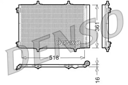Радиатор кондиционера CITROEN: C3 1.4/1.4 16V/1.4 HDi/1.6 16V/1.6 HDi 09 - , C3 (FC) 1.6 16V HDi 02 - , C3 Picasso 1.4/1.6/1.6 HDi 09 - , DS3 1.4 16V/1.6 16V/1.6 HDi 1