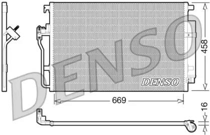 Радиатор кондиционера MERCEDES-BENZ: SPRINTER 3-t/3,5-t/4,6-t/5-t (906) 209-524i/CDi/NGT/BlueTEC/4x4 06- \ VW: CRAFTER 30-35/30-50 (2E_) 2.5TDi 06- (с осушителем)