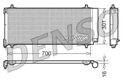 Радиатор кондиционера PEUGEOT: 407 1.6-3.0i/HDi/16V/V6 04-, 607 2.2HDi/2.7HDi 04-
