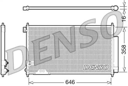 Радиатор кондиционера HONDA: ACCORD VII (CL/CN) 2.2i-CDTi mtr. N22A1 04-08, ACCORD TOURER VII (CM/CN) 2.2i-CDTi mtr. N22A1 04-08 (с осушителем)