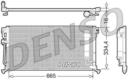 Радиатор кондиционера MITSUBISHI: LANCER СЕДАН (CSA) 1.3/1.6/1.8 SEI LIMITED/2.0/2.0 GDI 03-, LANCER УНИВЕРСАЛ (CSW) 1.6/1.8 GDI T/2.0 03-