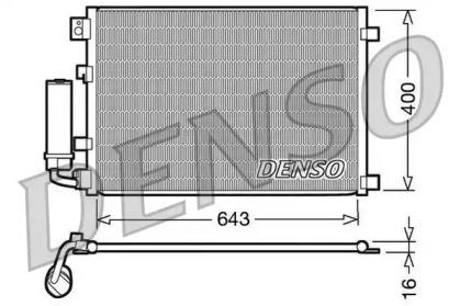 Радиатор кондиционера NISSAN: QASHQAI 1.6 / 2.0
