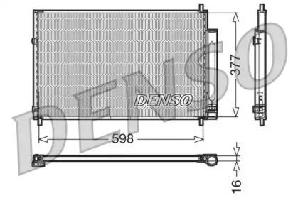 Радиатор кондиционера Замена - DCN50041. TOYOTA: AURIS (E15) 1.33-2.2i/D/D-4D/Dual-VVTi 07-12, AVENSIS (T27) 1.6-2.2i/D-4D 08-, COROLLA (E15) 1.33-1.8i/VVT-i/D-4D/CNG 06-