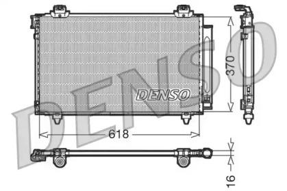 Радиатор кондиционера Замена - DCN50112. TOYOTA: COROLLA VERSO (ZER, ZZE) 1.3 VVT-i/1.4D-4D/1.5i/1.6i/1.8i/2.0D-4D/2.2D-4D 04-09