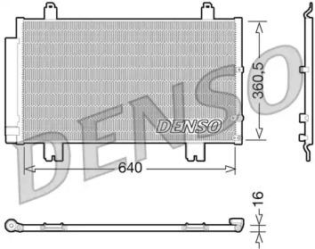 Радиатор кондиционера LEXUS: GS (GRS19, UZS19, GWS19) 3.0/300/350/350 AWD/430 05-11