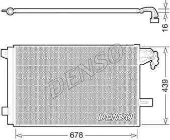 Радиатор кондиционера DENSO DCN32063 VW T5 2.0TDI 09-