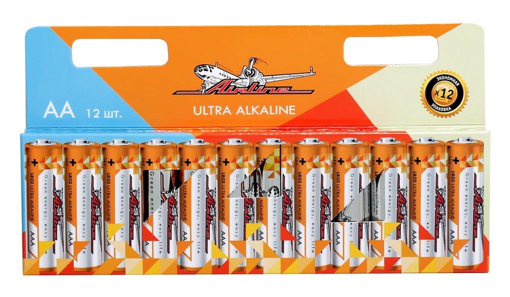 Батарейки LR6/AA щелочные 12 шт.