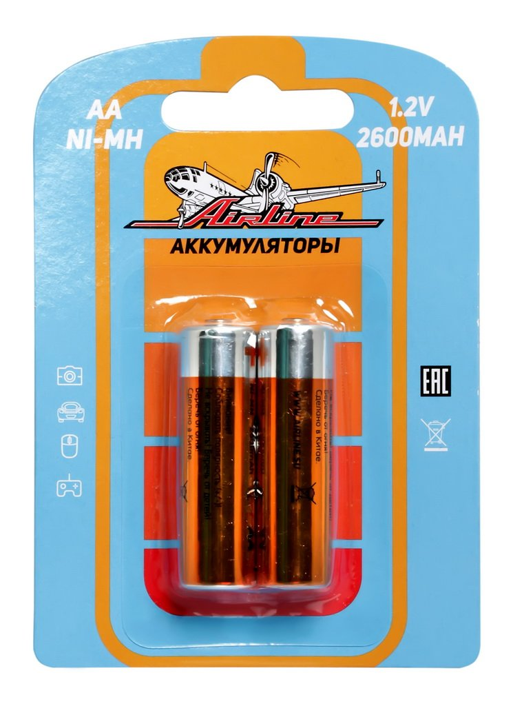 Батарейки AA HR6 аккумулятор Ni-Mh 2600 mAh 2шт.