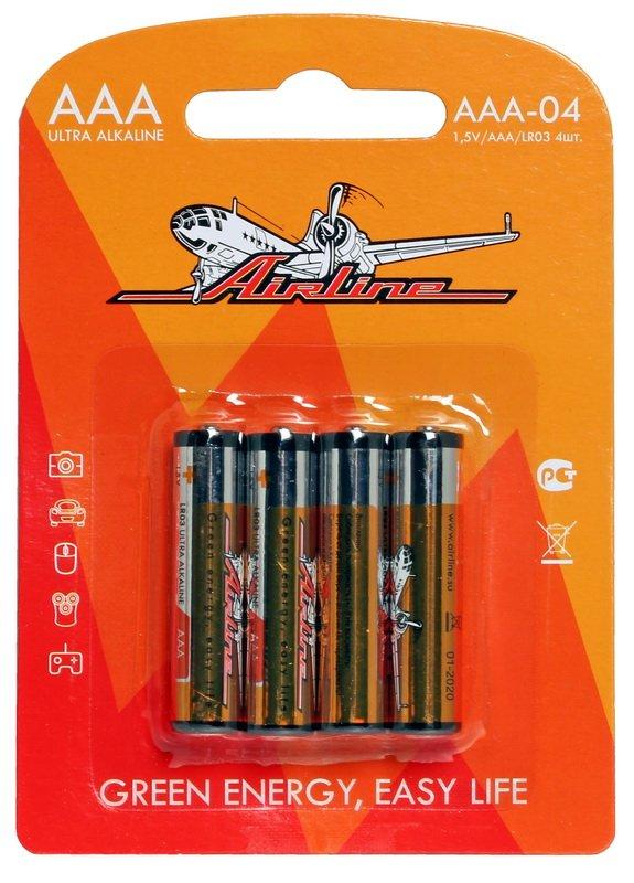 Батарейки LR03/AAA щелочные 4 шт. блистер