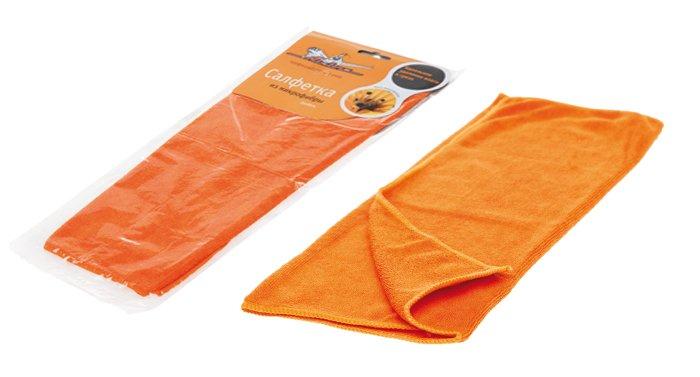 Салфетка из микрофибры оранжевая (35*40 см)